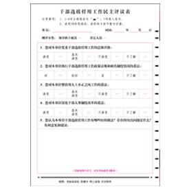 干部选拔任用工作民主评议表