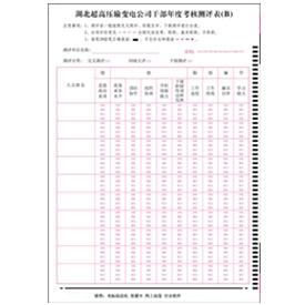 变电公司干部年度考核测评表