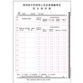 领导班子和领导人员反腐倡廉情况民主测评表