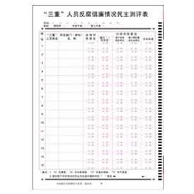 反腐倡廉情况民主测评表