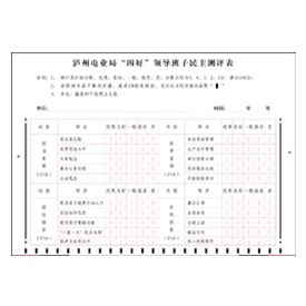 """电业局""""四好""""领导班子民主测评表"""