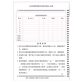 工会经费审查委员会委员候选人名单